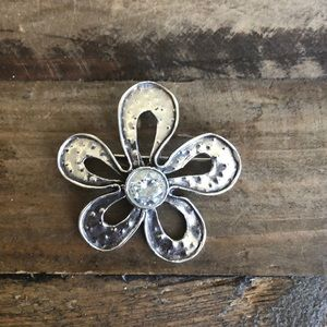 Silpada flower Sterling Silver Pin/Pendant